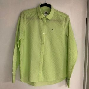 Lime green button up